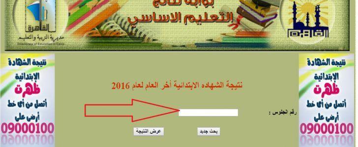 نتيجة الشهادة الابتدائية الآن على موقع وزارة التربية والتعليم الدور الأول لعام 2016 جميع محافظات مصر برقم الجلوس Map Map Screenshot