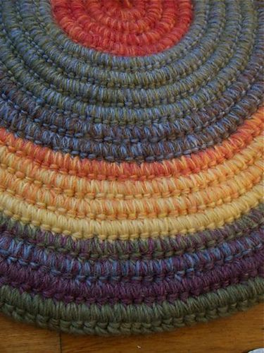Coiled Rug Crafting Rugs Knit Crochet Knitting
