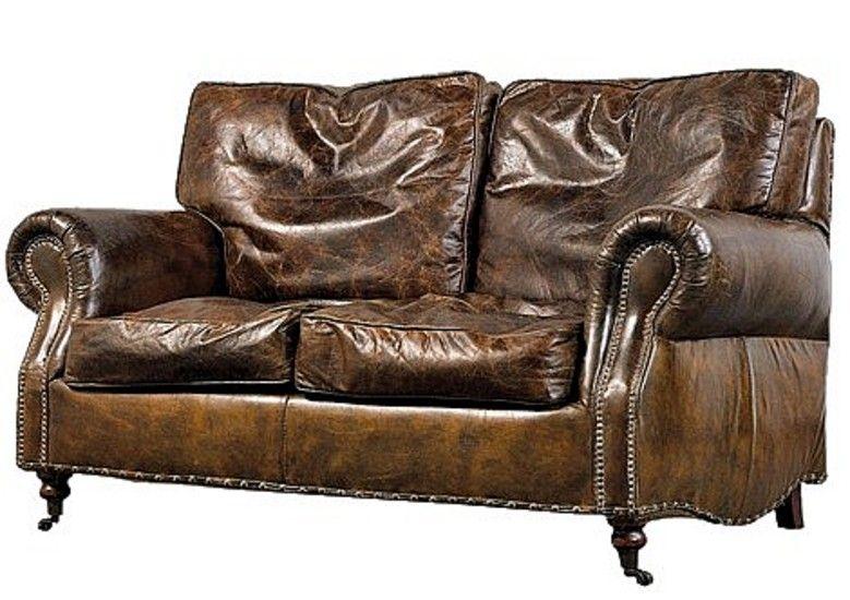 Vintage Leather 2 Seater Settee Vintage Leather Sofa Leather Sofa Living Room Leather Sofas Uk