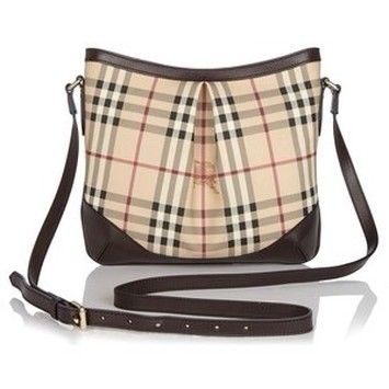 2141f8bae42 Burberry Haymarket Hartham Chocolate Cross Body Bag $737 | Bags That ...