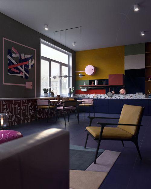 INTERIORS Home Pinterest Interiores, Departamentos y Espacios - diseo de interiores de departamentos