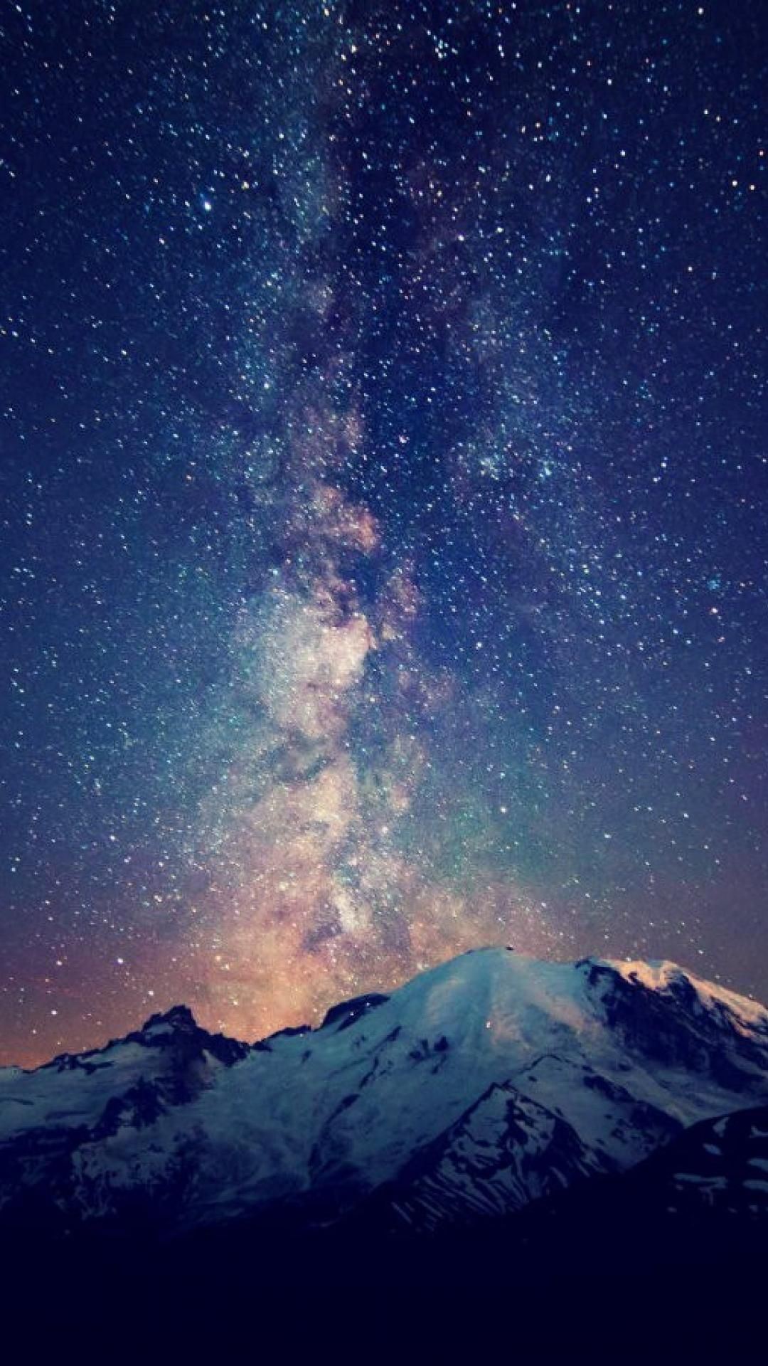 Milky Way In The Night Sky Iphone Wallpaper Milky Way Galaxy Wallpaper Night Skies