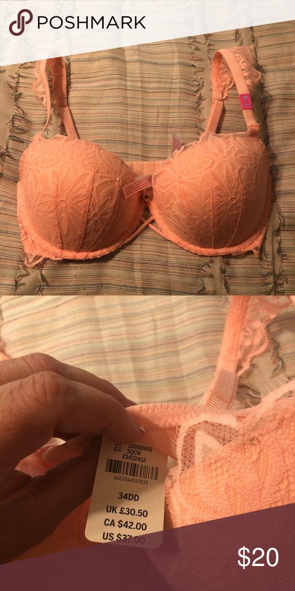 Victorias Secret PINK NWT Cool /& Comfy Push Up Bra Size 34DD