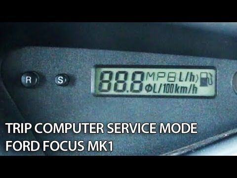 Ford Focus Mk1 Trip Computer Hidden Menu With Mpg Settings And
