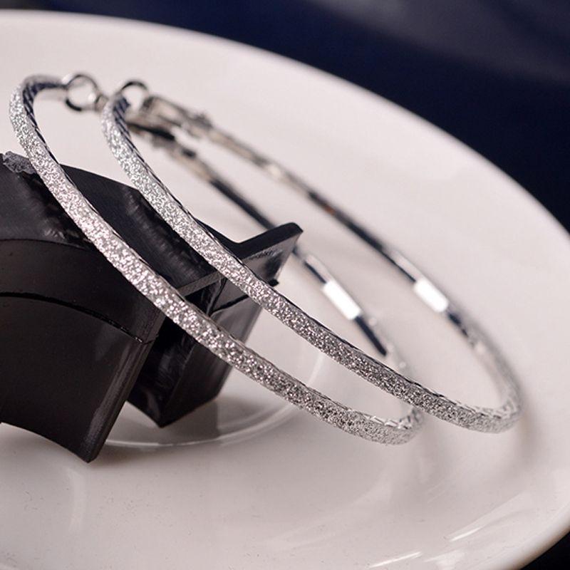 Dazzling Ladies Silver Gold CZ Huggie Hoop Earrings Hooped Sleeper 2 Colours UK