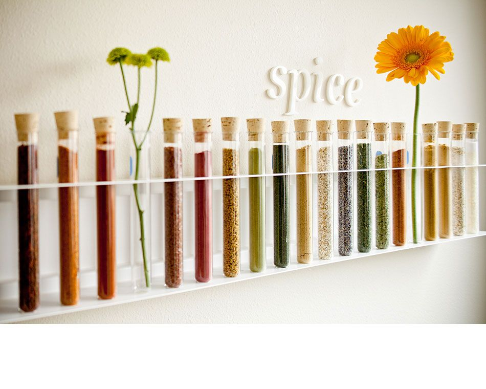 From Lincoln Barbor...Prometheus - I Am Home Image Library--using test tubes for spices!