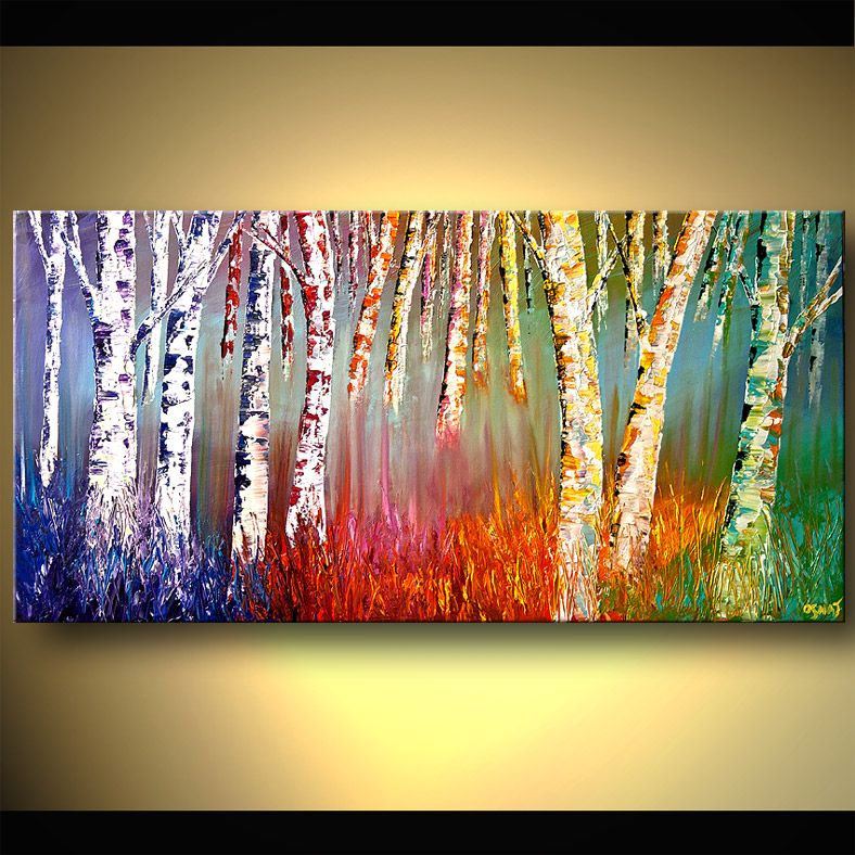 Colorful tree pop wall art | free shipping & framed | Pop art, 1 ...