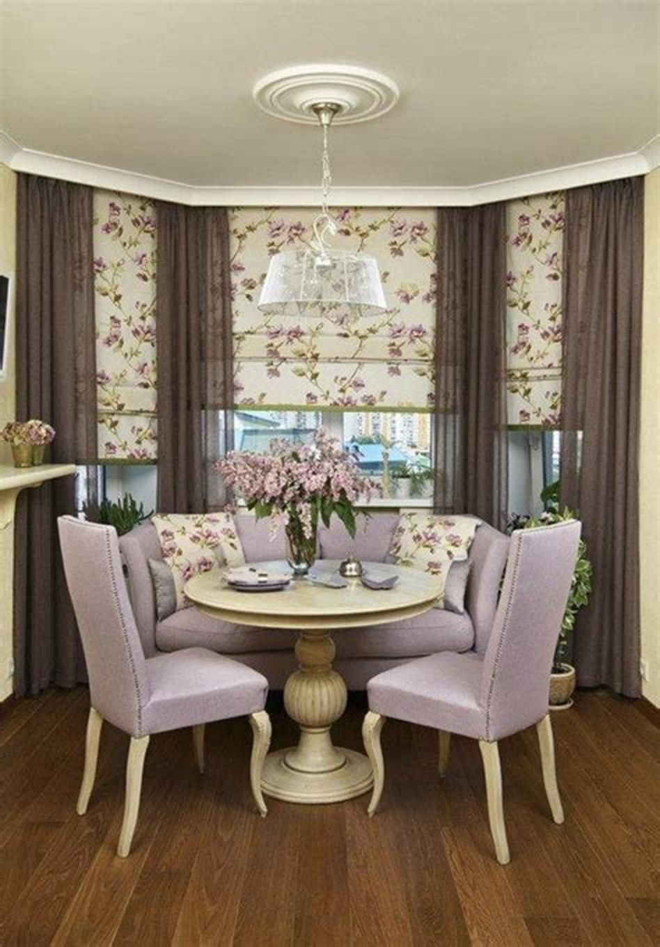 21 Creative Curtains And Window Coverings Ideas 35 Dining Room Windows Breakfast Nook Curtains Decor