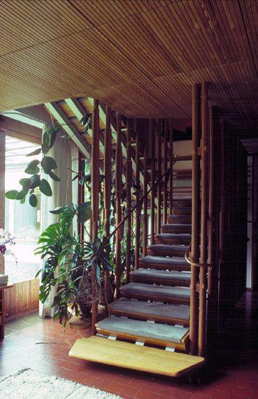 Best Stairway Villa Mairea Alvar Aalto Space Architecture 400 x 300
