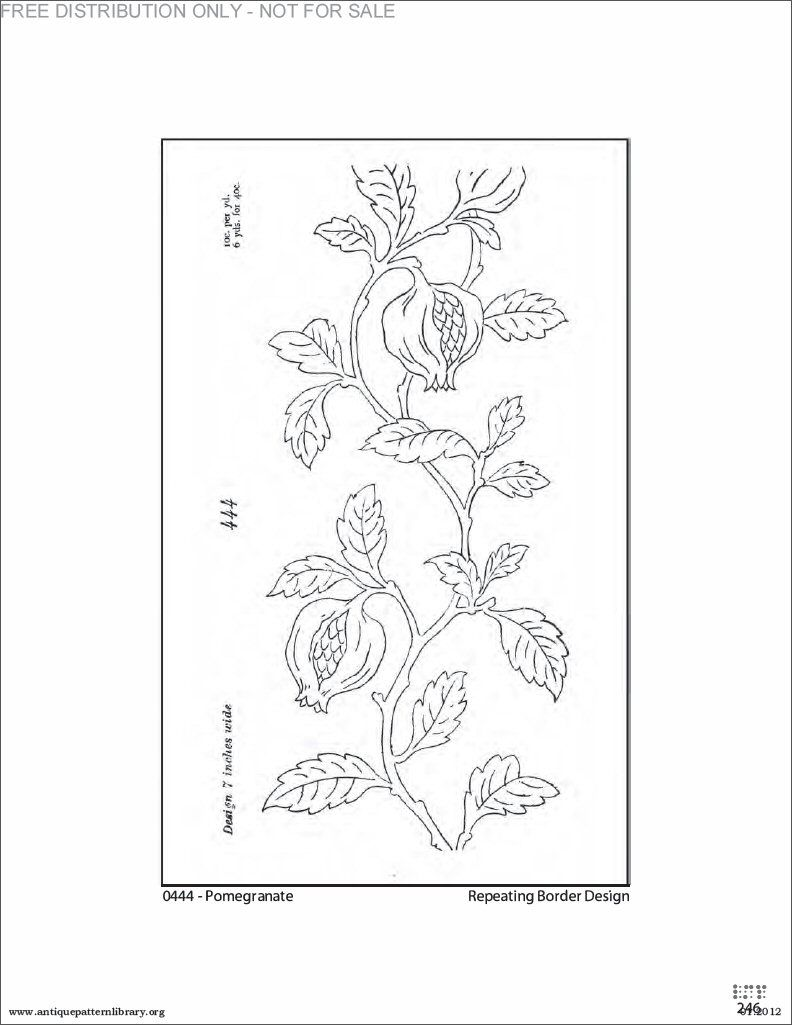 Pomegranate embroidery pattern free from the antique pattern pomegranate embroidery pattern free from the antique pattern library bankloansurffo Image collections