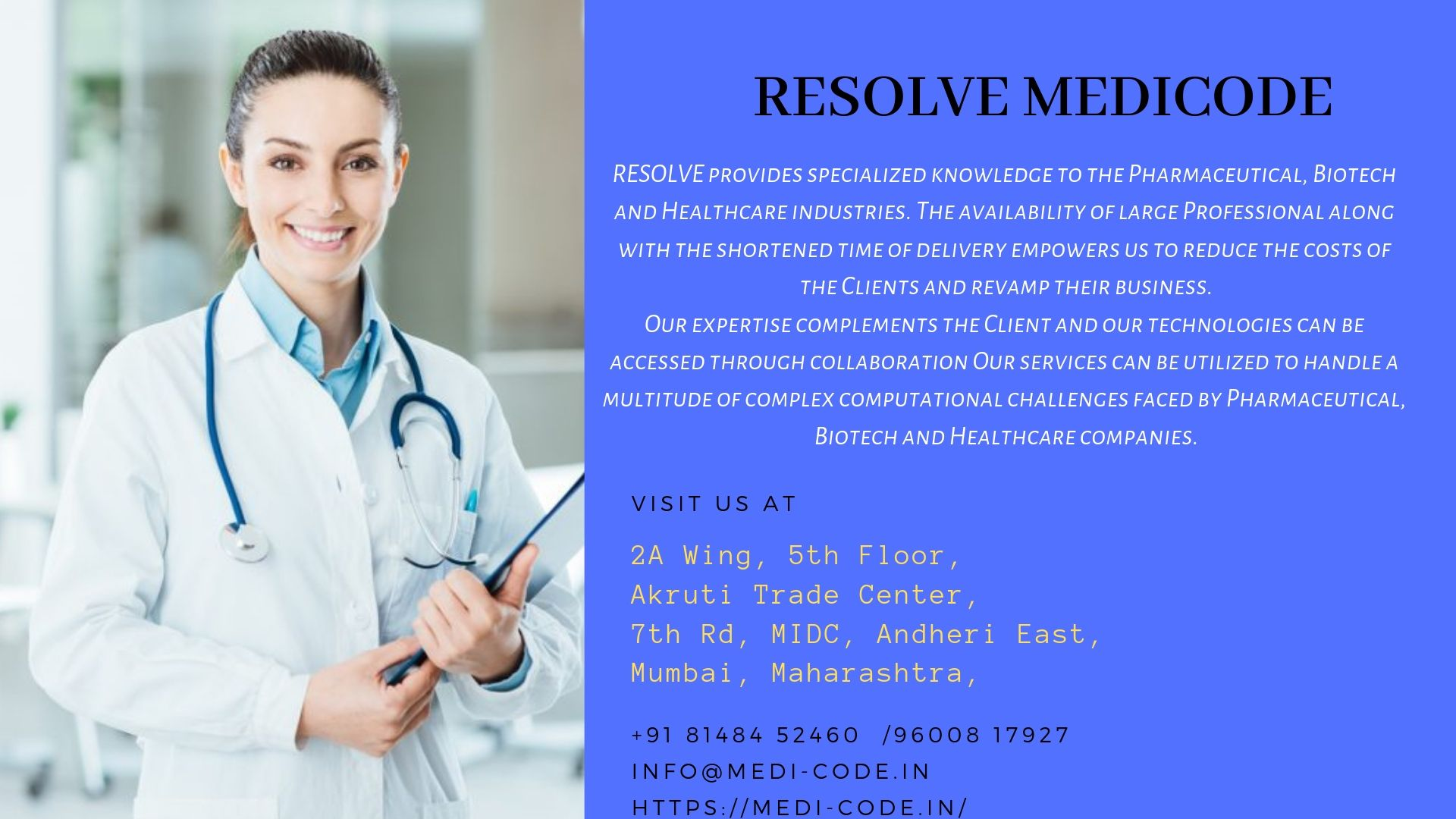 RESOLVE Medicode Provide quality Medical Coding Training