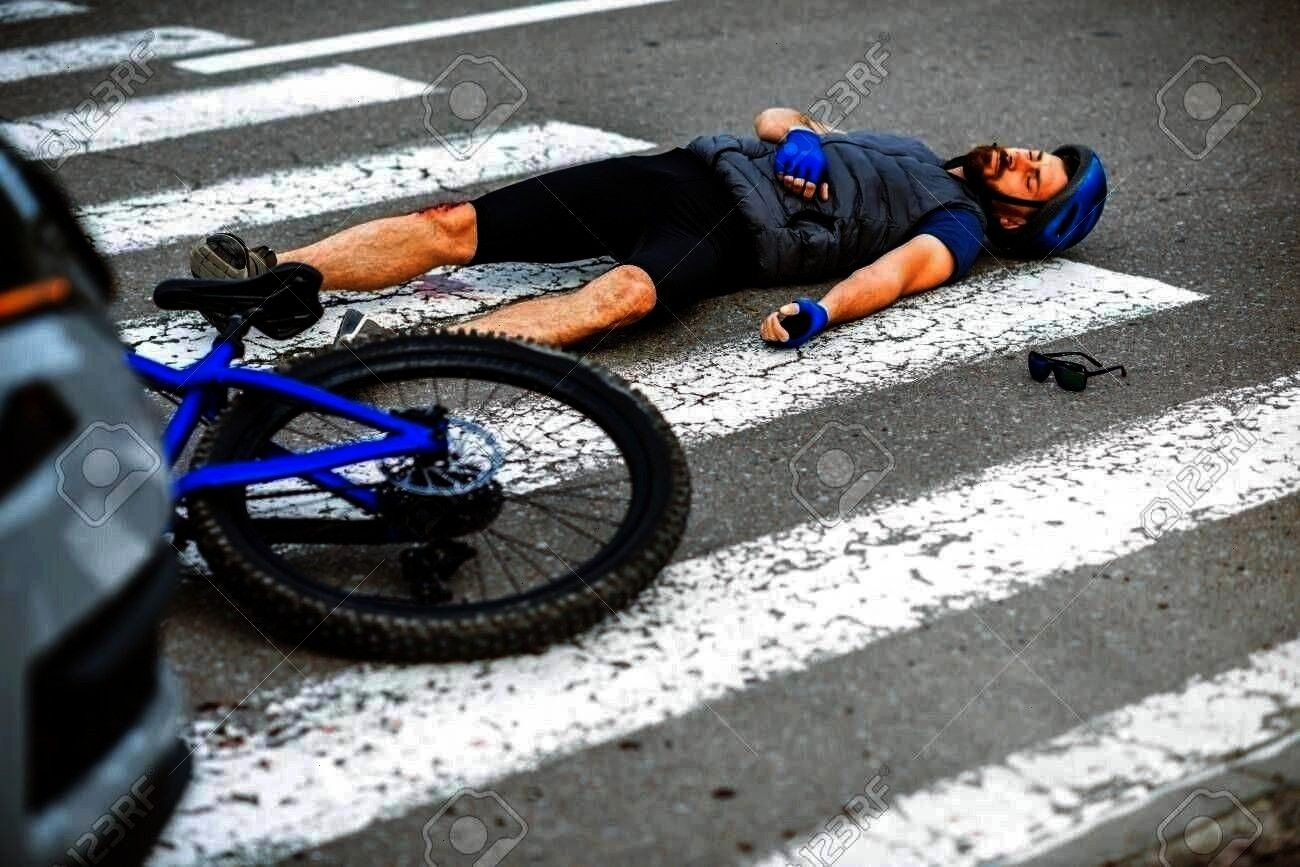 Pedestrian Photoroad Accident Carscene Crossing Cyclist