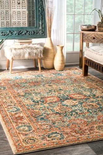 Persian Floral Lorna Beige Area Rug Size 4 X 6 Beige Area