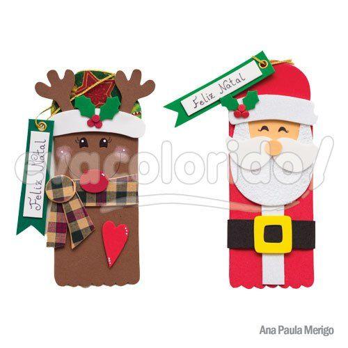 Molde 276 – Porta Chocolate Papai Noel e Rena