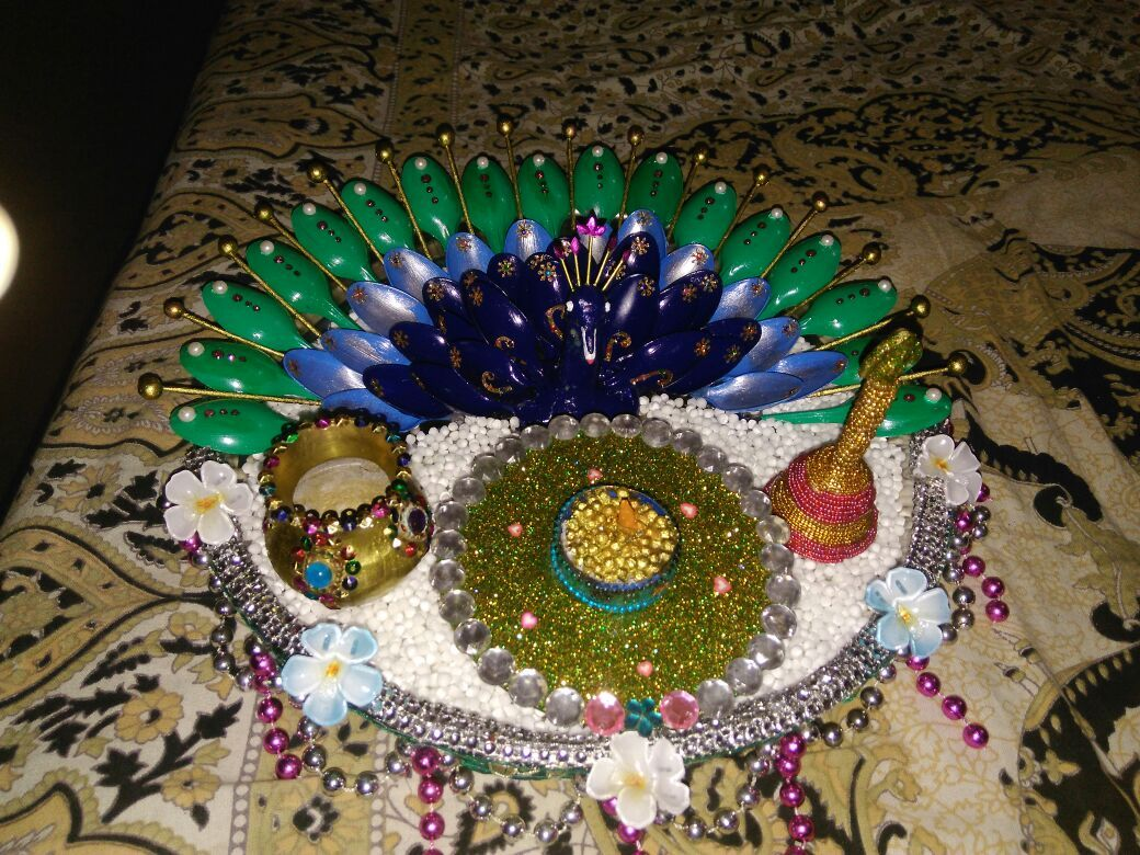 Aarati thali....decorated by my sis