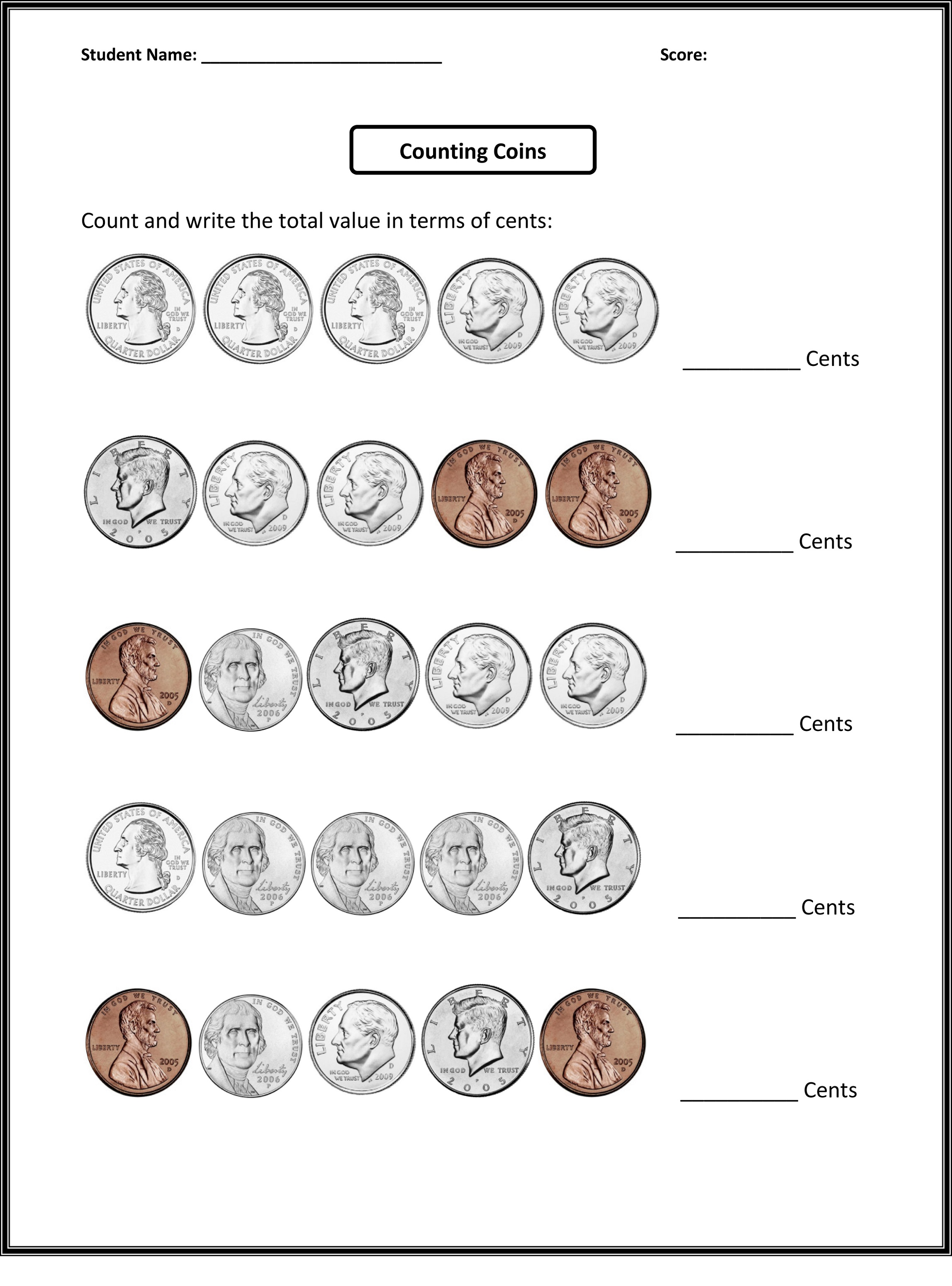Counting Coins 4th Grade Math Fourth Grade Math Educative Printable Fourth Grade Math 4th Grade Math Worksheets 2nd Grade Math Worksheets
