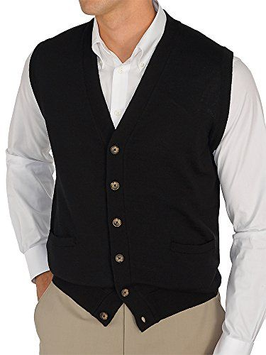 Paul Fredrick Men's Italian Extra Fine Merino Wool Button Front ...