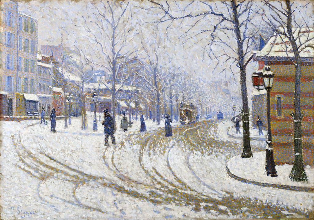 Paul Signac「Boulevard de Clichy, Paris」(1886)