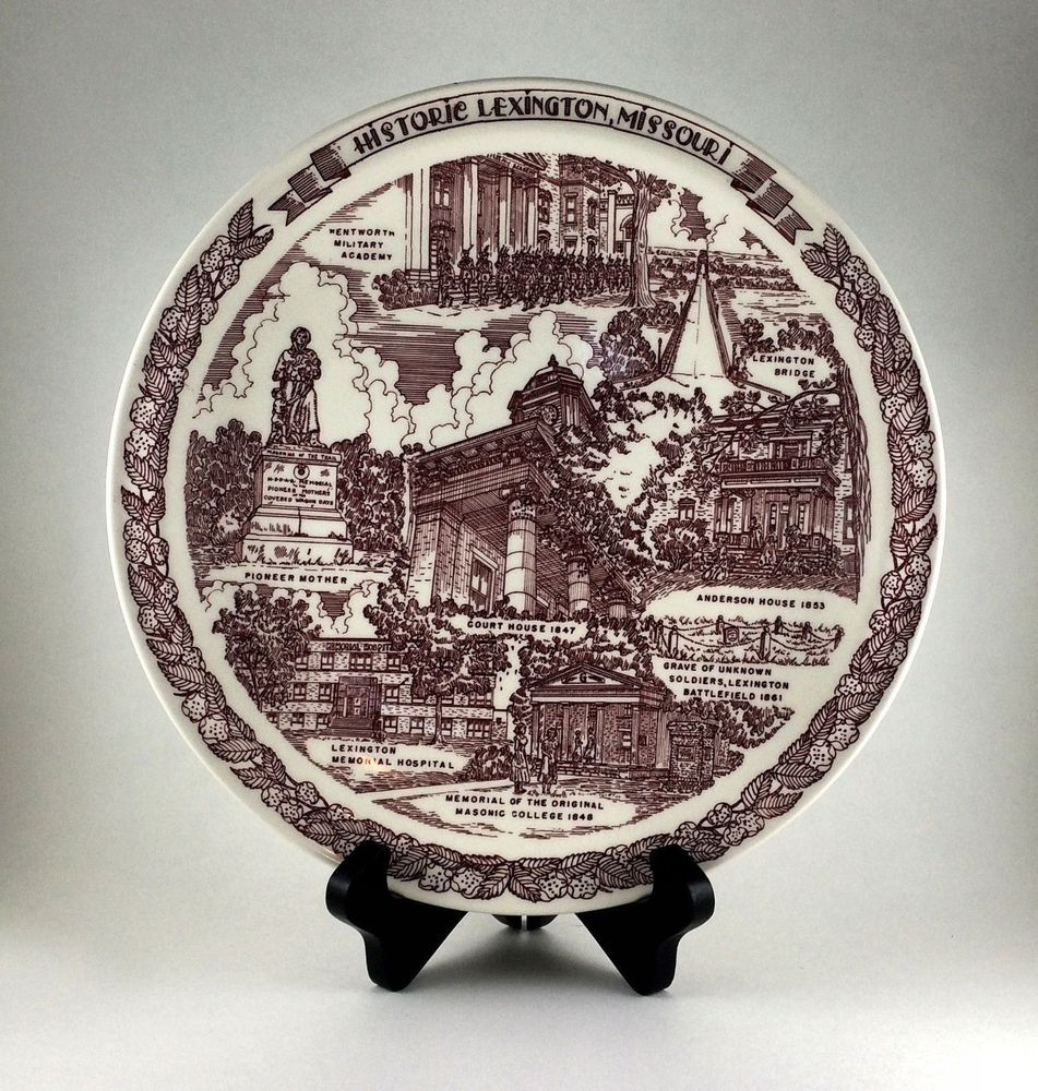 Vernon Kilns Historic Civil War Lexington Missouri Plate 10 1/4 inch Diameter : 4 inch decorative plates - pezcame.com