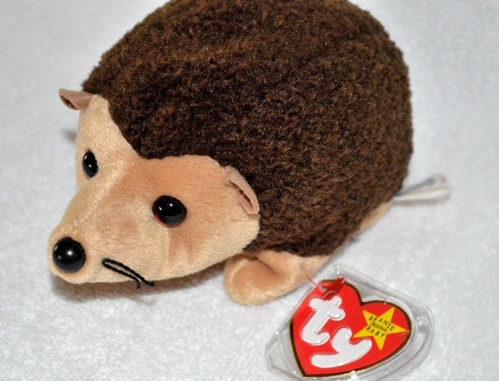 5b0fa2f7762 TY Beanies Ultra Rare Spelling Error  Prickles the Hedgehog MWMT MINT  Ty