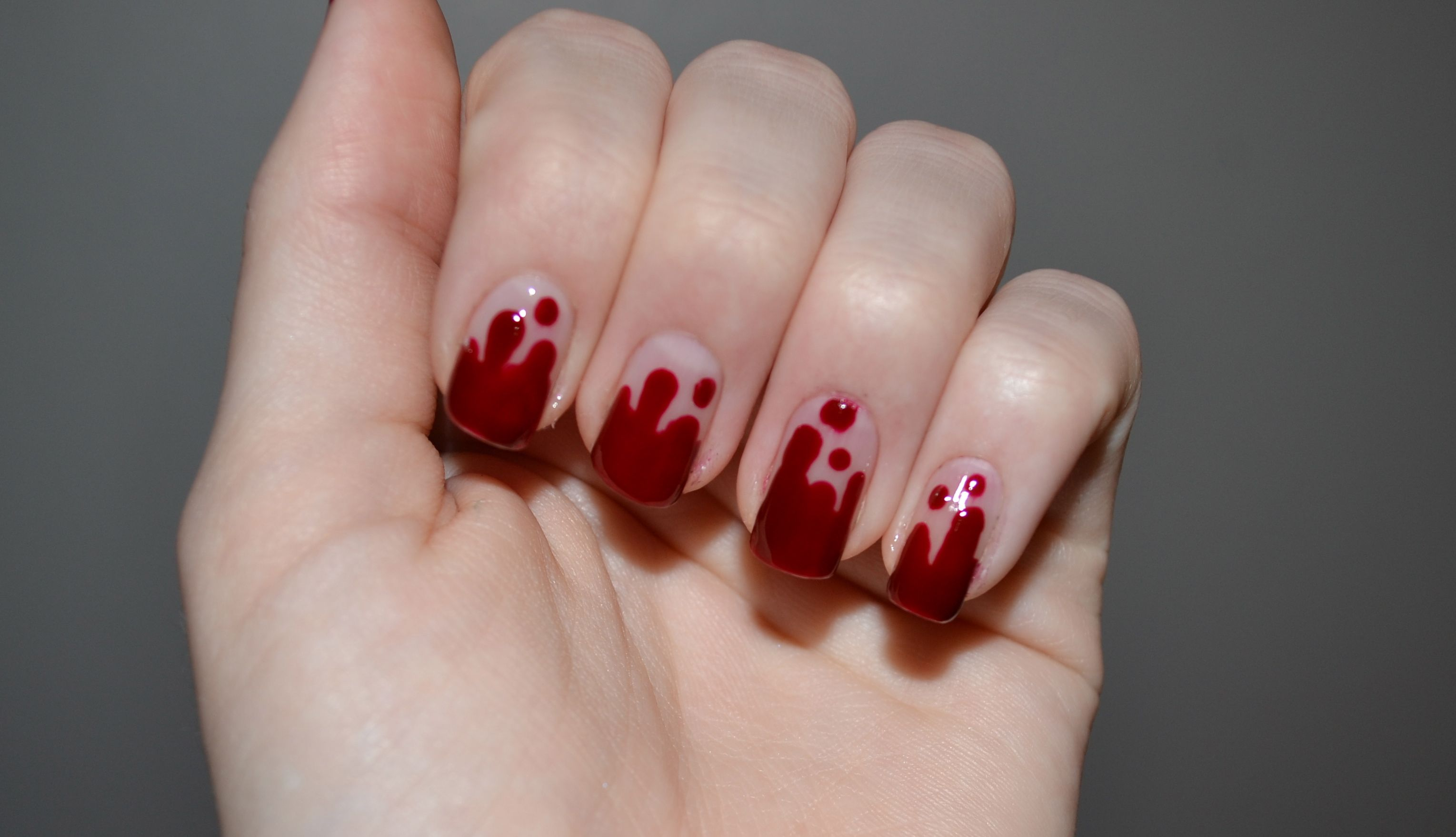 Blood drip nails | Halloween nail designs, Blood nails ...
