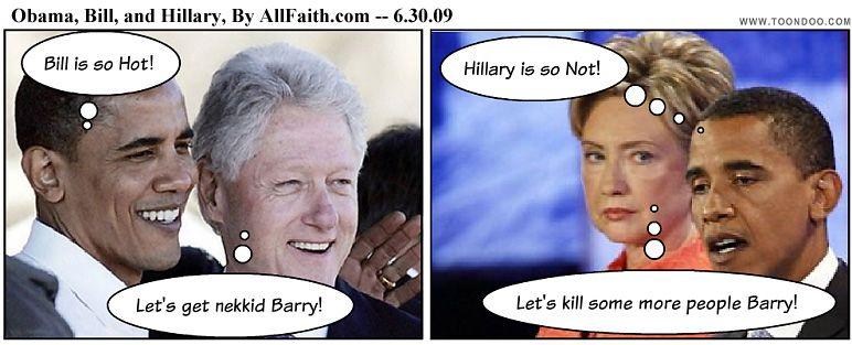 Bill Clinton on Obama: A Big Fairy Tale -- Now He's All.... -- 6.30.09 AllFaith.com Comix