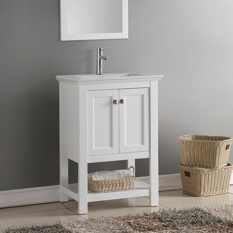 Azucena 24 5 Wall Mounted Single Bathroom Vanity Traditional