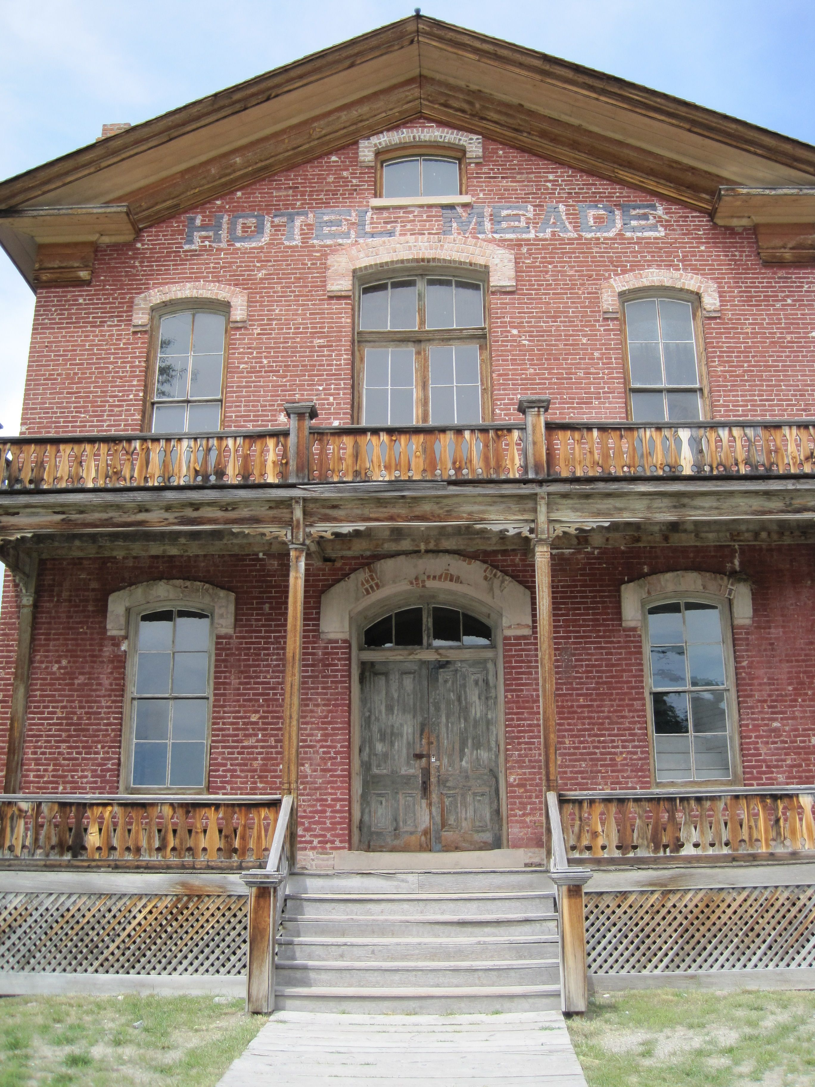 Hotel Meade in Bannack Ghost Town  Bannack State Park  Montana