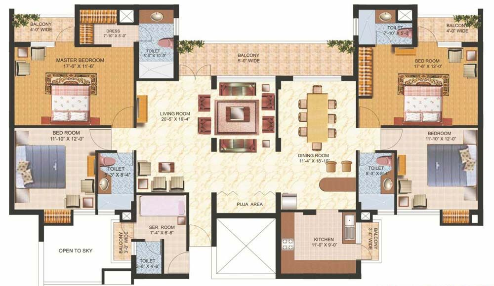quick floor plan of the house Description from