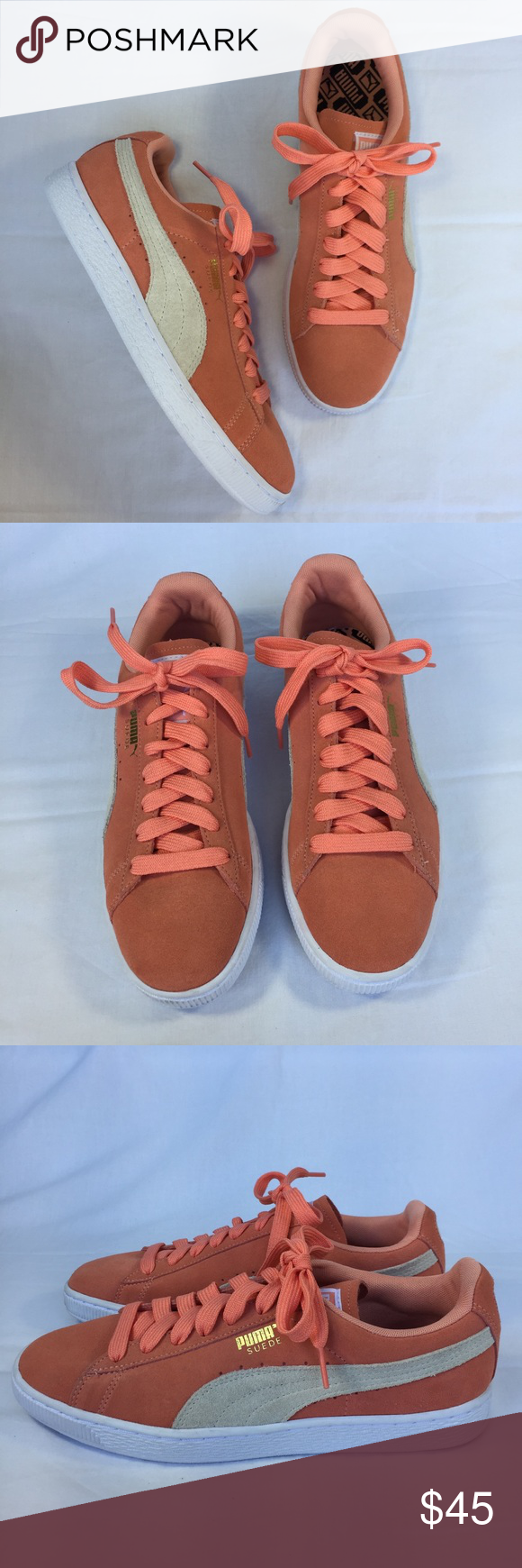 beb21fc7a63a PUMA Suede Classic Salmon Pink Shoes Sneakers NEW New without tags Puma  Suede Classic Salmon Pink