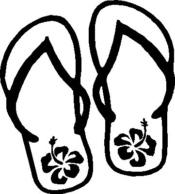 Coloring page flip flops
