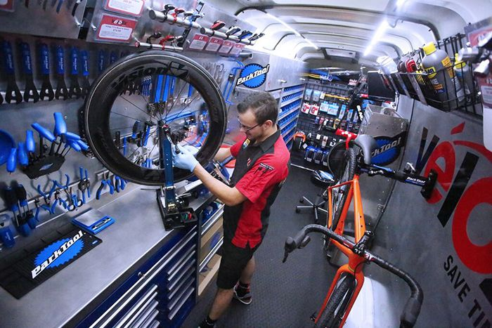 Driverless Mobile Bike Shops Fahrrad Werkstatt Fahrrad Werkstatt