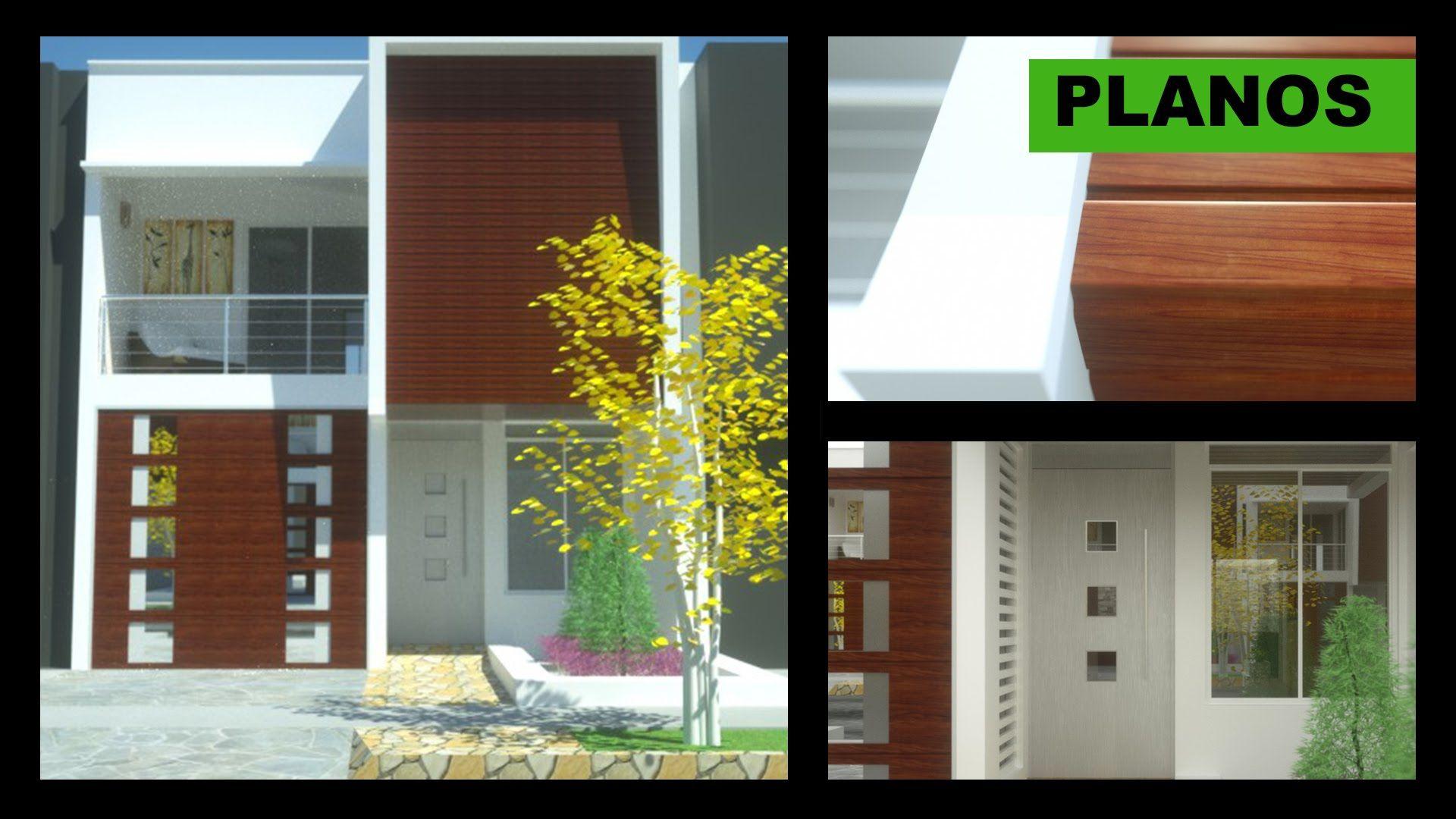 Planos casa moderna 2 pisos 6m x 12m villa del sol for Planos para casas modernas