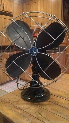 Emerson Electric Fan Black Oscillating 3 Speed Vintage