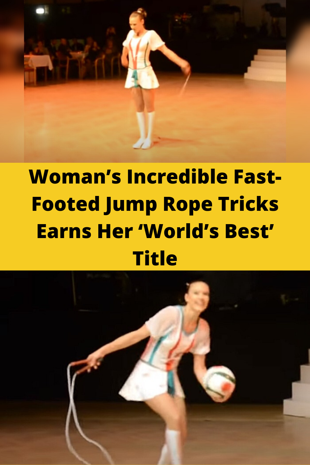 Woman's incredible fastfooted jump rope tricks earns her