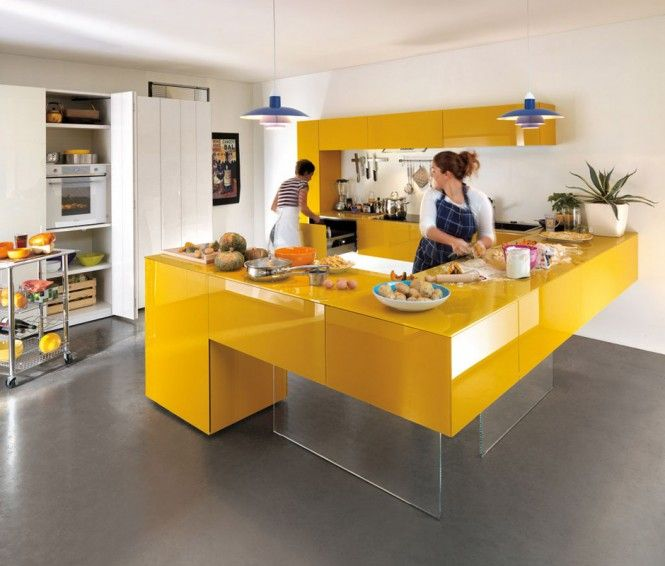 Attractive Yellow Room Interior Inspiration: 55+ Rooms For Your Viewing Pleasure.  Yellow Kitchen DesignsModern ...
