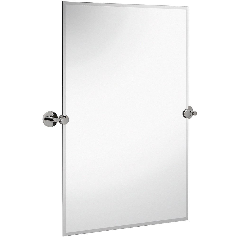 Hamilton Hills Large Pivot Rectangle Mirror With Polished Chrome