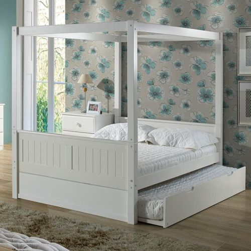 Found it at Wayfair - Full/Double Canopy Bed with Trundle & Found it at Wayfair - Full/Double Canopy Bed with Trundle ...