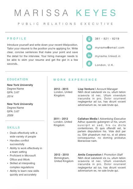 Creative Resume Template Cv Template Cover Letter For  Download