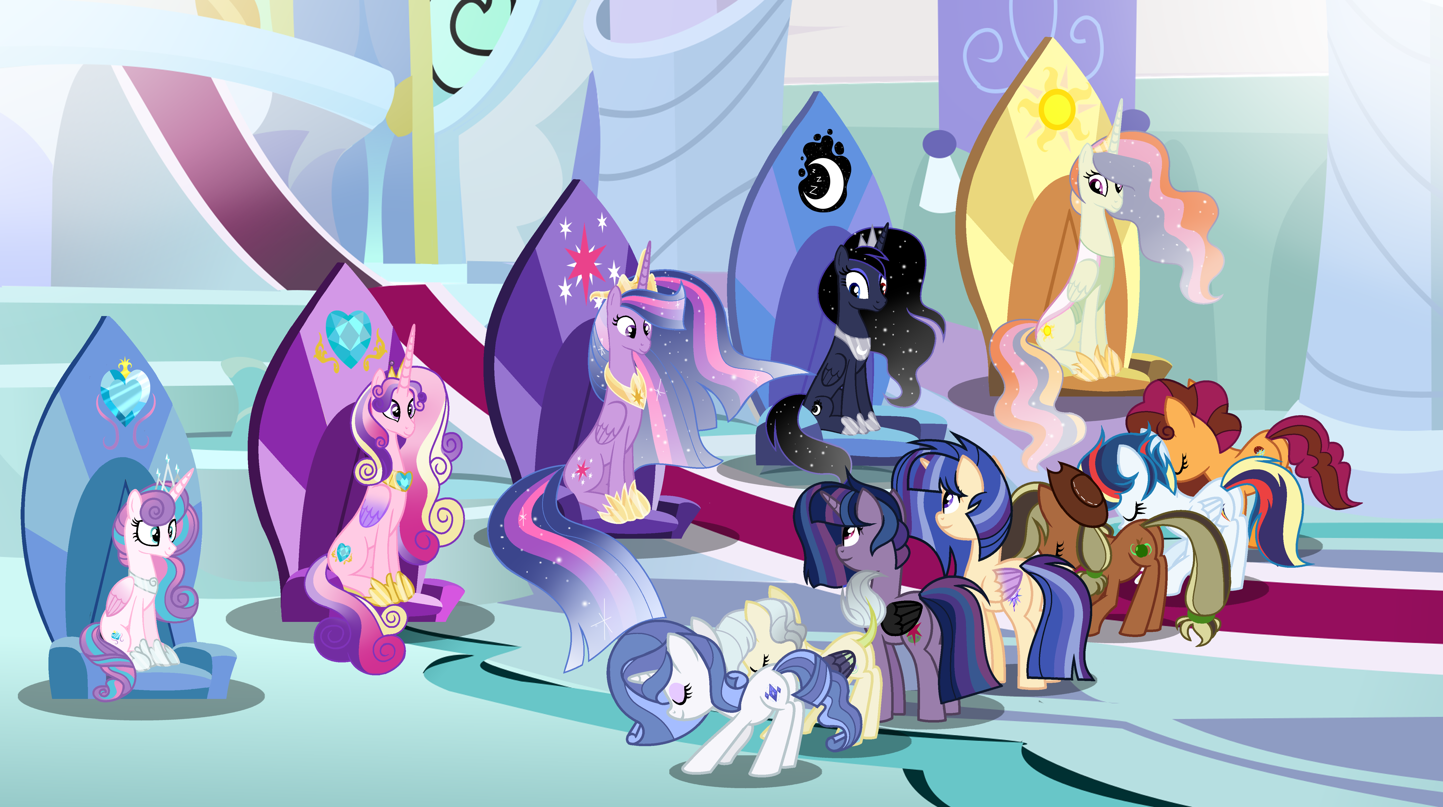 Mlp Next Gen The Meeting With Princesses By Shadowandromedayt On Deviantart My Little Pony Cartoon My Little Pony List My Little Pony Princess