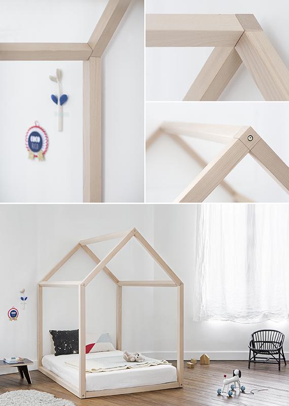 design lit maison avec matelas chambre d 39 enfant la. Black Bedroom Furniture Sets. Home Design Ideas