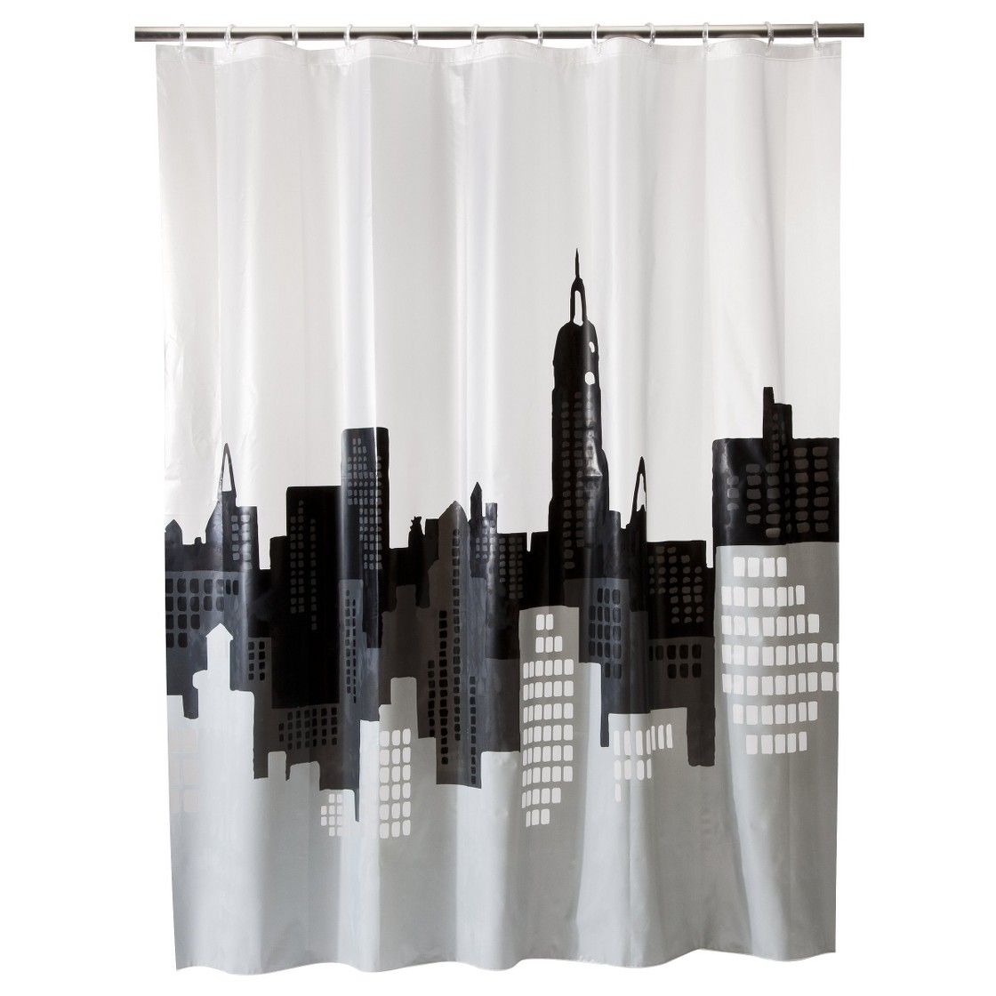Apartment Room Essentials city scape shower curtain gray/white - room essentials™ | room