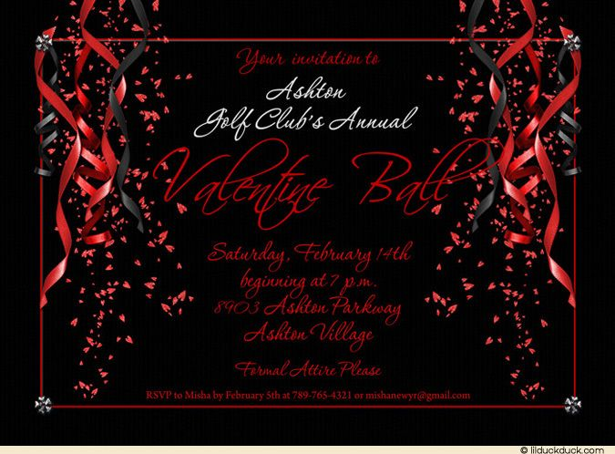 Red Valentine Party Invitation – Red Party Invitations