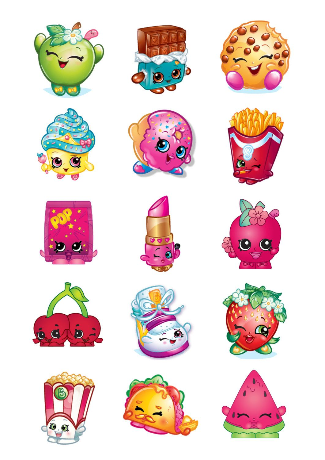 """Shopkins Kooky Cookie Iron On Transfer 5/""""x 5.25/"""" for LIGHT Colored Fabric"""