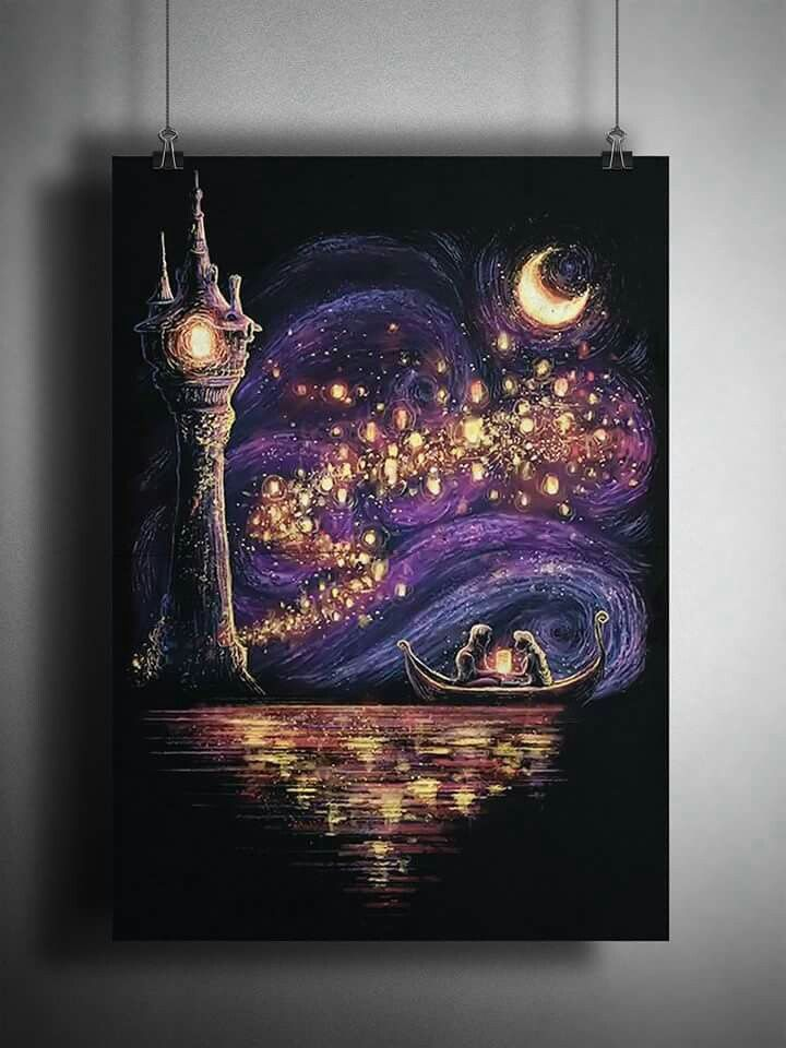 And At Last I See The Light Shining From My Prison Right Behind You Art Inspiration Disney Art Disney Paintings