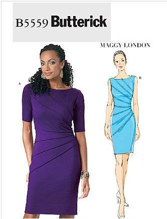 Butterick B5862 Paper Pattern Misses Dress For Knit Fabrics Maggy
