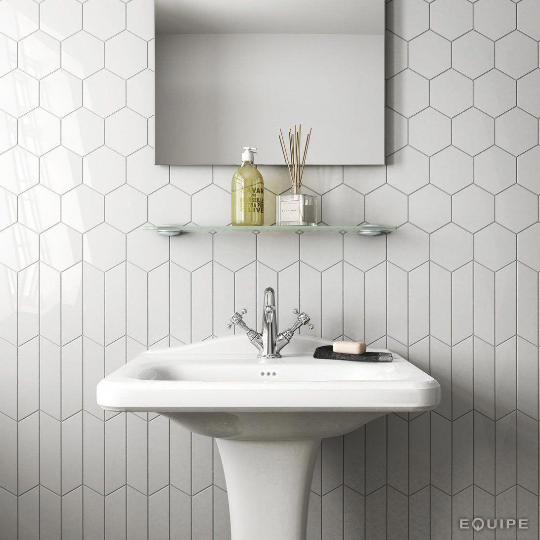 23+ Hexagon tile bathroom wall trends