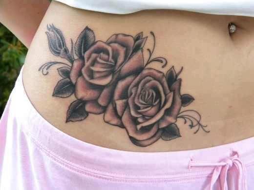 tatuajes 2 rosas