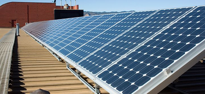 Just in time for the area race, the first solar panels