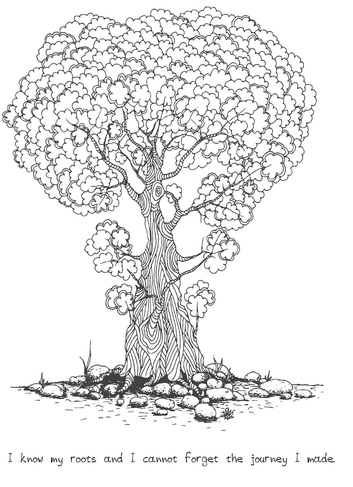 Tree Quotes And Coloring Page Coloring Books Wise Tree Quote Coloring Pages
